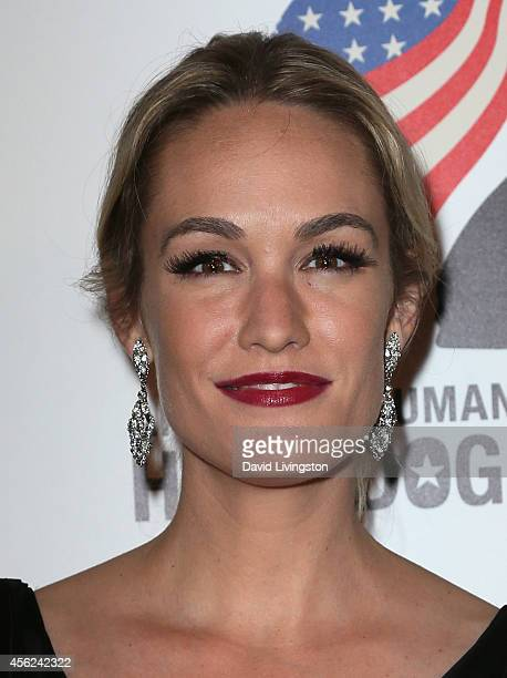 TV entertainment journalist Ashlan Gorse attends the 4th Annual American Humane Association Hero Dog Awards at The Beverly Hilton Hotel on September...