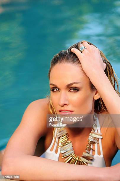 Entertainment journalist Ashlan Gorse is photographed for Coco Eco Magazine on July 1 2013 in Malibu California COVER IMAGE