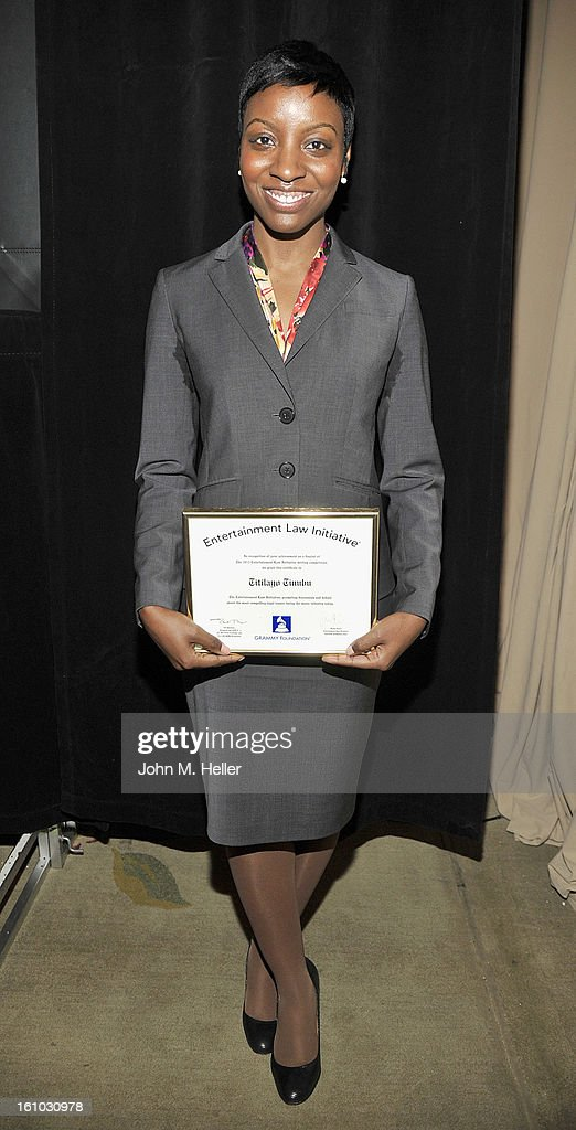 Entertainment Law Initiative Award Winner Titilayo Tinubu at the 2013 Grammy Foundation's 15th Annual Entertainment Law Initiative Luncheon at Beverly Hills Hotel on February 8, 2013 in Beverly Hills, California.