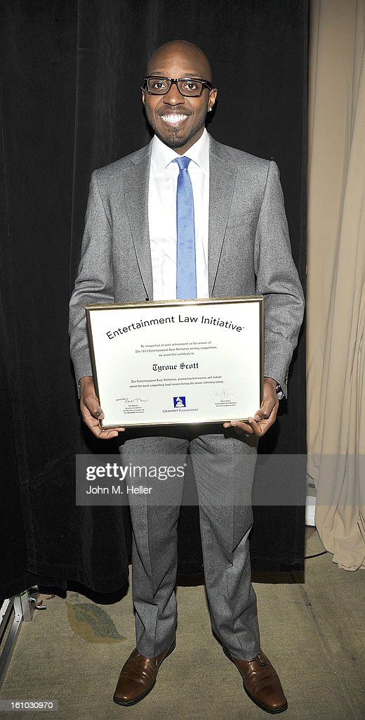 Entertainment Law Initiative Overall Award Winner Tyrone Scott at the 2013 Grammy Foundation's 15th Annual Entertainment Law Initiative Luncheon at Beverly Hills Hotel on February 8, 2013 in Beverly Hills, California.