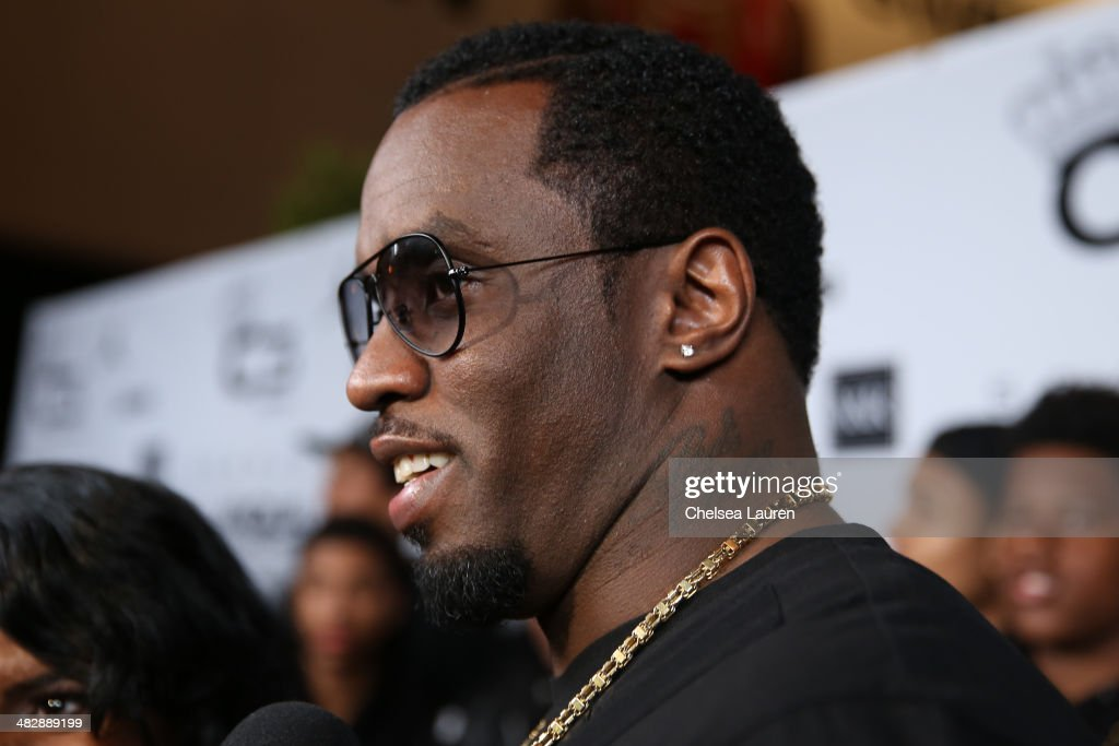 Entertainment mogul Sean 'Diddy' Combs arrives at his son Christian Casey Combs' 16th birthday party at 1OAK on April 4, 2014 in West Hollywood, California.