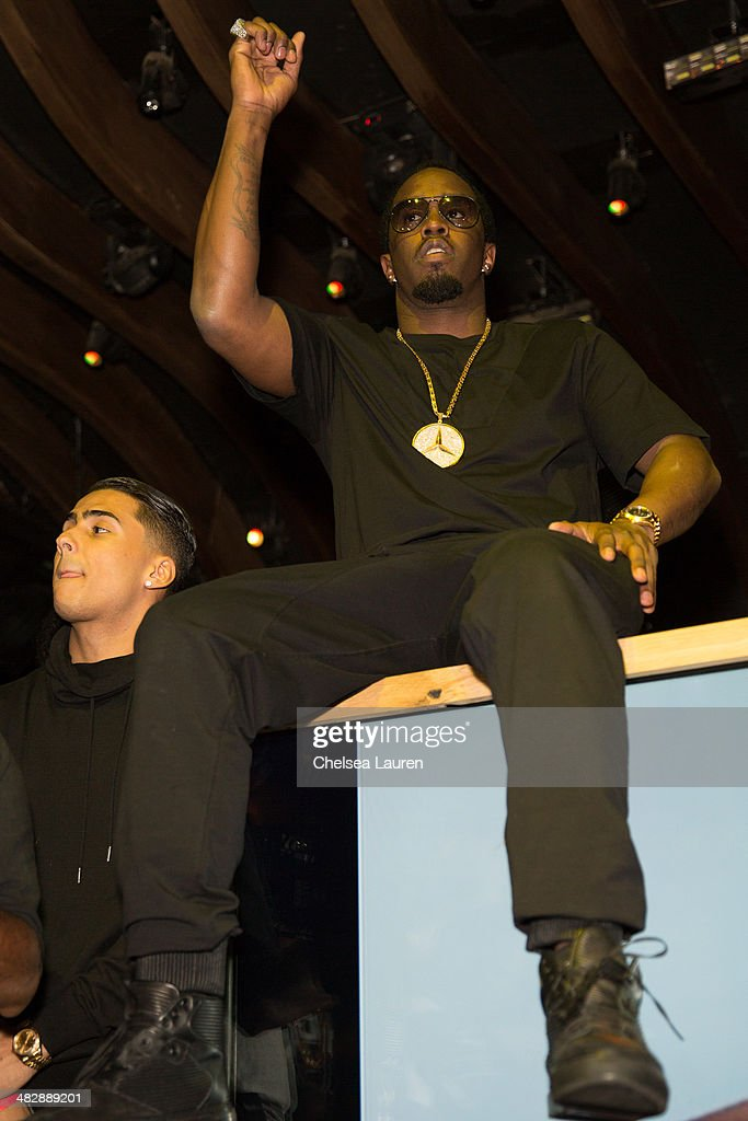 Entertainment mogul Sean 'Diddy' Combs hosts his son Christian Casey Combs' 16th birthday party at 1OAK on April 4, 2014 in West Hollywood, California.