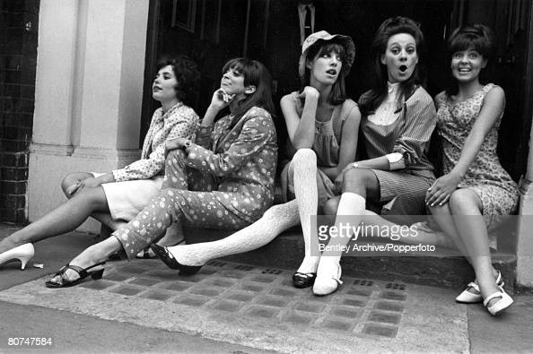 Entertainment Personalities London 29th June 1965 Five hopeful young women about to start rehearsals for West End roles in 'Passion Flower Hotel' LR...