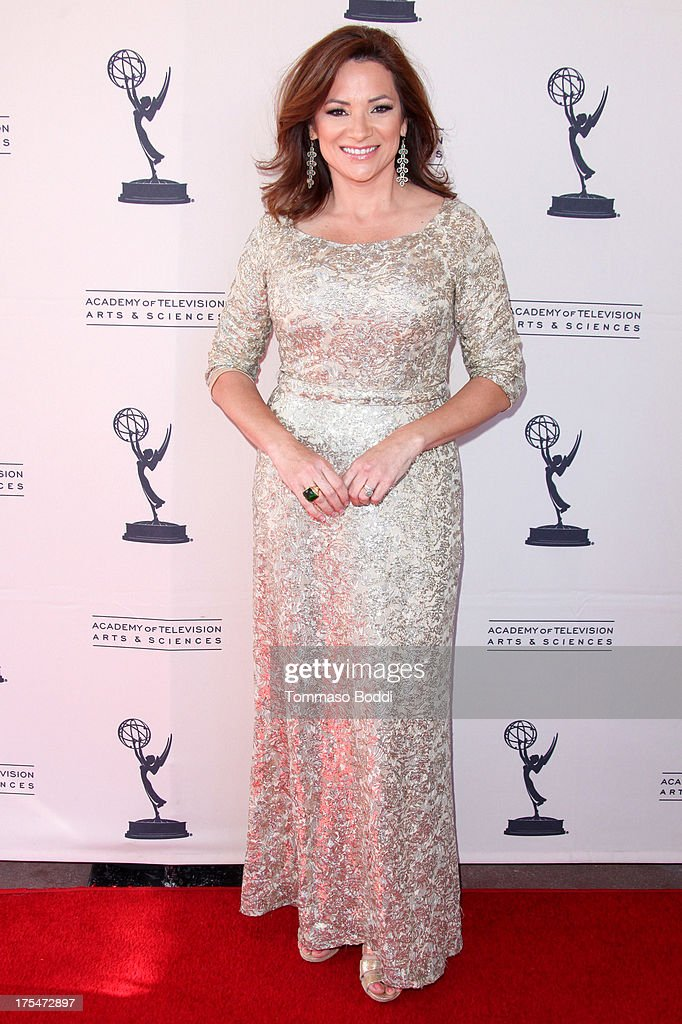 Entertainment reporter Cecilia Bogran attends the Academy Of Television Arts & Sciences 65th Los Angeles Area EMMY Awards held at the Leonard H. Goldenson Theatre on August 3, 2013 in North Hollywood, California.
