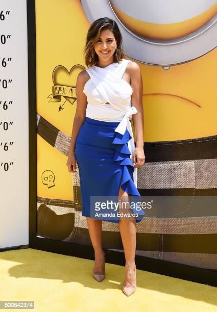 Entertainment reporter Liz Hernandez arrives at the premiere of Universal Pictures and Illumination Entertainment's 'Despicable Me 3' at The Shrine...