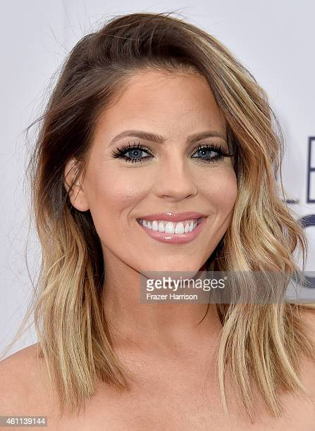 Entertainment reporter Stephanie Bauer attends The 41st Annual People's Choice Awards at Nokia Theatre LA Live on January 7 2015 in Los Angeles...