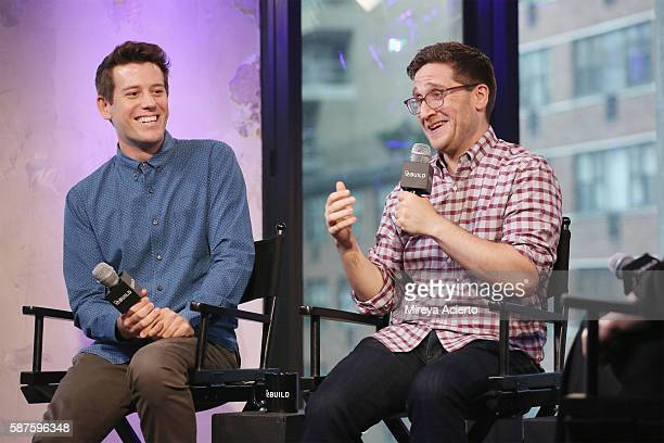 Entertainment reporter/sports commentator Ben Lyons and producer Josh Horowitz discuss their new project called 'Junketeers' at AOL HQ on August 8...