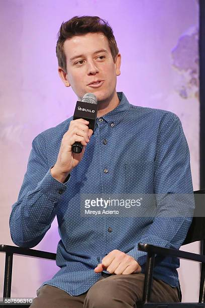 Entertainment reporter/sports commentator Ben Lyons discusses a new project called 'Junketeers' at AOL HQ on August 8 2016 in New York City