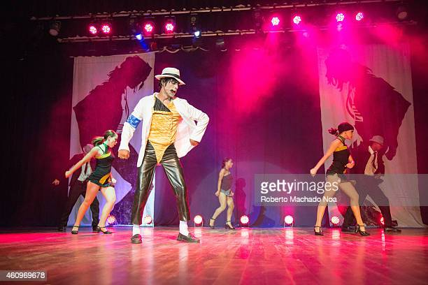 Entertainment show Michael Jackson impersonator in the Memory Paradise resort in Santa Maria Key one of the major tourist destinations in Cuba Santa...