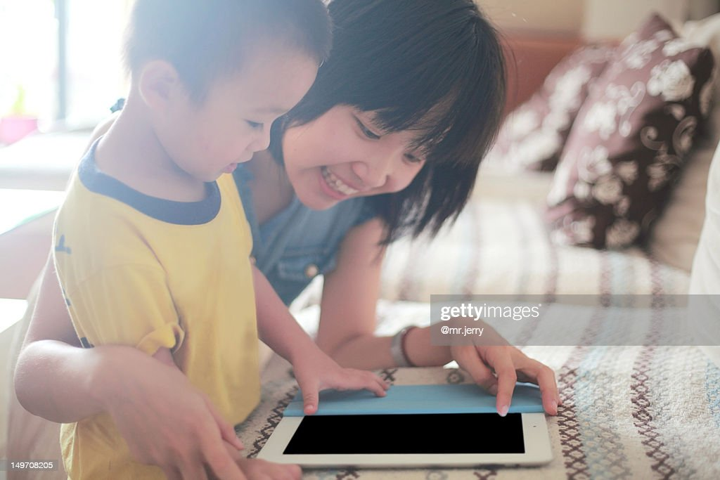 Entertainment with digital tablet : Stock Photo
