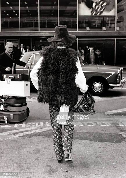 Entertainment/Music 22nd September 1967 Brian Jones of 'The Rolling Stones' pop group is pictured as he walks to his car after arriving at Heathrow...