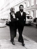 Entertainment/Music England 19th February 1971 Member of British pop group The Beatles Paul McCartney is pictured with his wife Linda near London's...