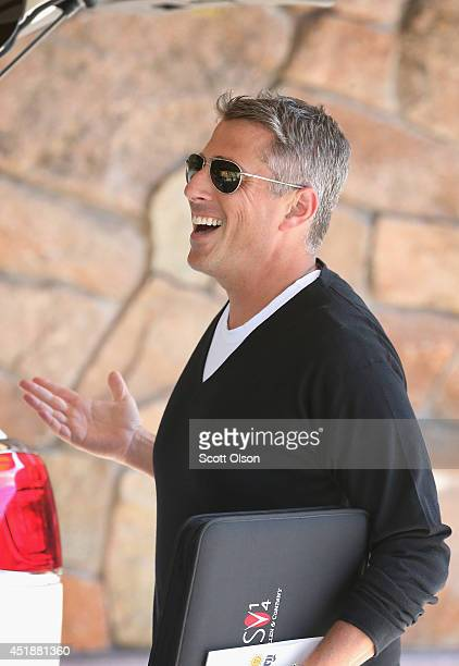 Entertainment/Sports Agent Executive Casey Wasserman arrives for the Allen Company Sun Valley Conference on July 8 2014 in Sun Valley Idaho Many of...