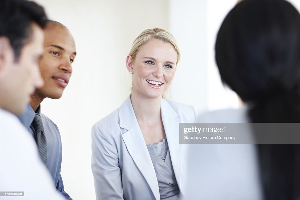 Enthusiastic executives : Stock Photo
