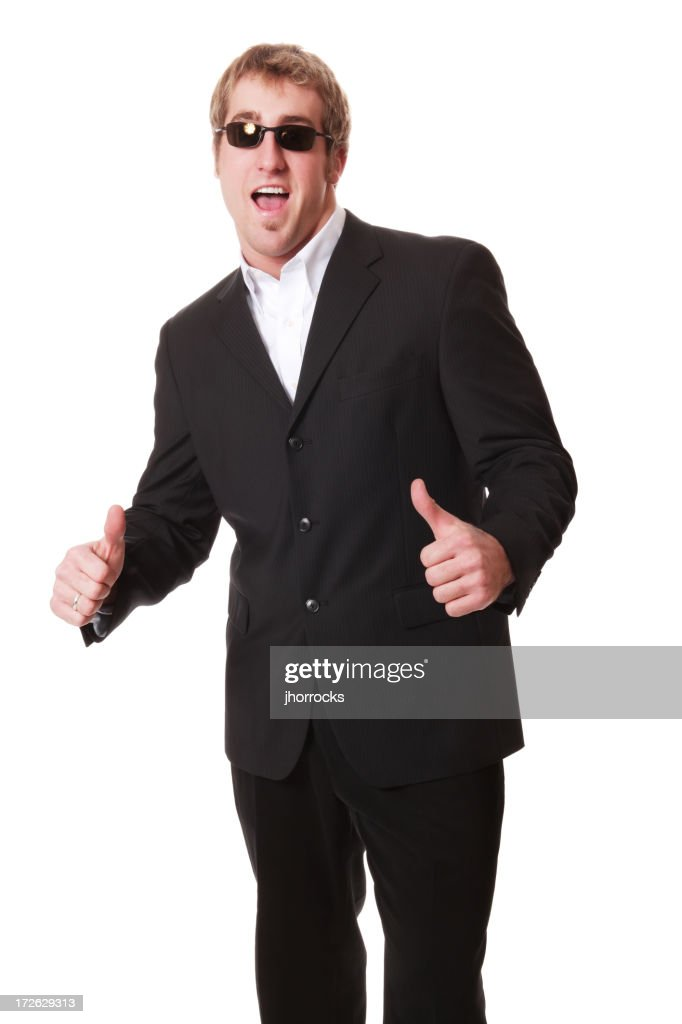 Enthousiaste Man In Black : Photo