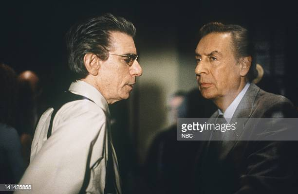 UNIT 'Entitled' Episode 15 Air Date Pictured Richard Belzer as Detective John Munch Jerry Orbach as Detective Lennie Briscoe Photo by NBCU Photo Bank