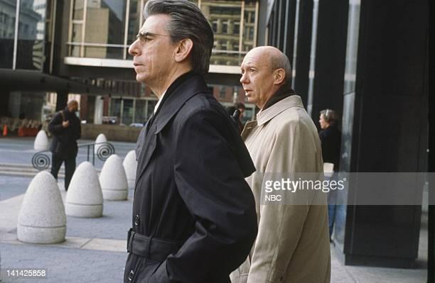UNIT 'Entitled' Episode 15 Air Date Pictured Richard Belzer as Detective John Munch Dann Florek as Captain Donald Cragen Photo by NBCU Photo Bank