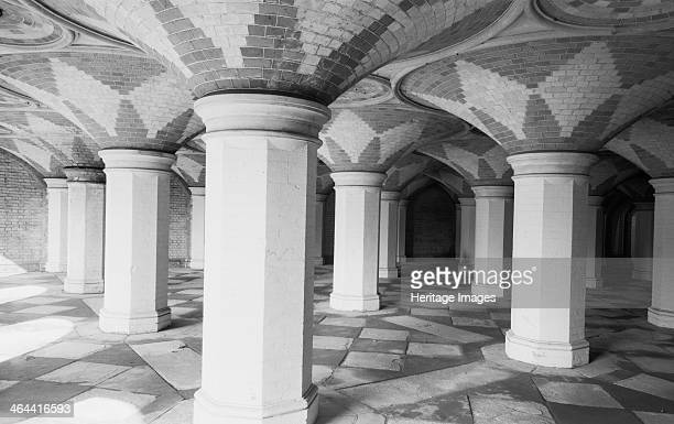 Entrance arcade from the station Crystal Palace Sydenham London 19451980 Interior view showing the entrance arcade from the station below the Crystal...