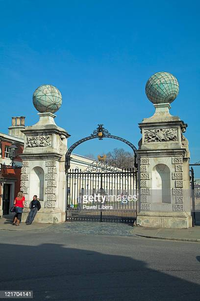 Entrance Gates to the Royal Naval College, Greenwich, London, UK