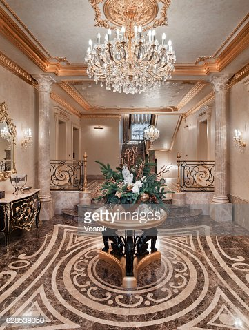 Entrance Hall In The Luxury House Stock Photo