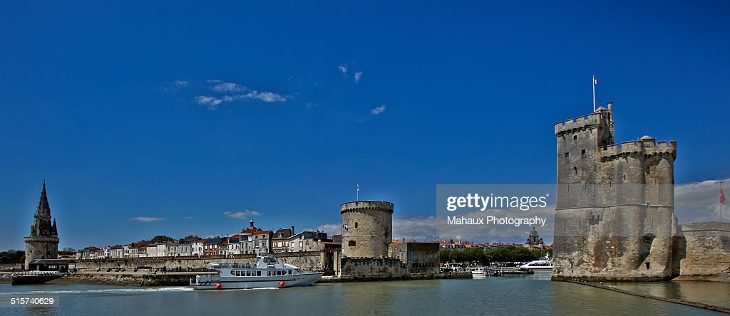 Entrance in the old harbour of La Rochelle