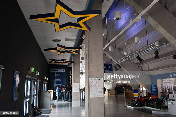 Entrance inside the Kinnarps Arena during the Champions Hockey League group stage game between HV71 Jonkoping and SonderjyskE Vojens on August 29...