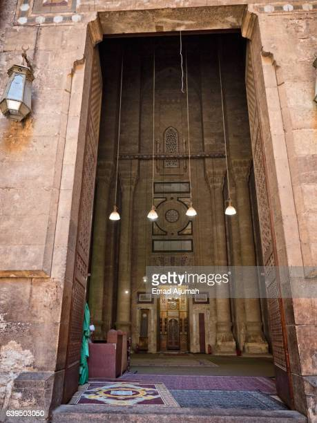 Entrance of Al Rifai Mosque in Cairo, Egypt