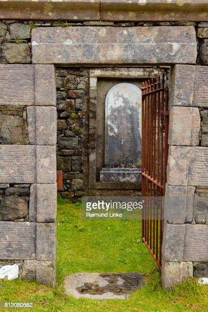 Entrance of an abandoned church on cemetery, Isle of Skye, Scotland, United Kingdom