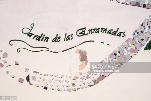 Entrance of Garden of 'Las Enramadas' decorated with tile mosaics Las Enramadas is a pedestrian boulevard which is a tourist attraction