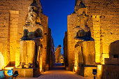 Luxor Temple is a large Ancient Egyptian temple complex located on the east bank of the Nile River