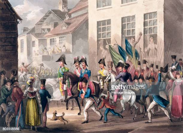 Entrance of the Allies into Paris March 31st 1814' 1815 The final battle of the War of the Sixth Coalition saw the combined armies of Russia Prussia...