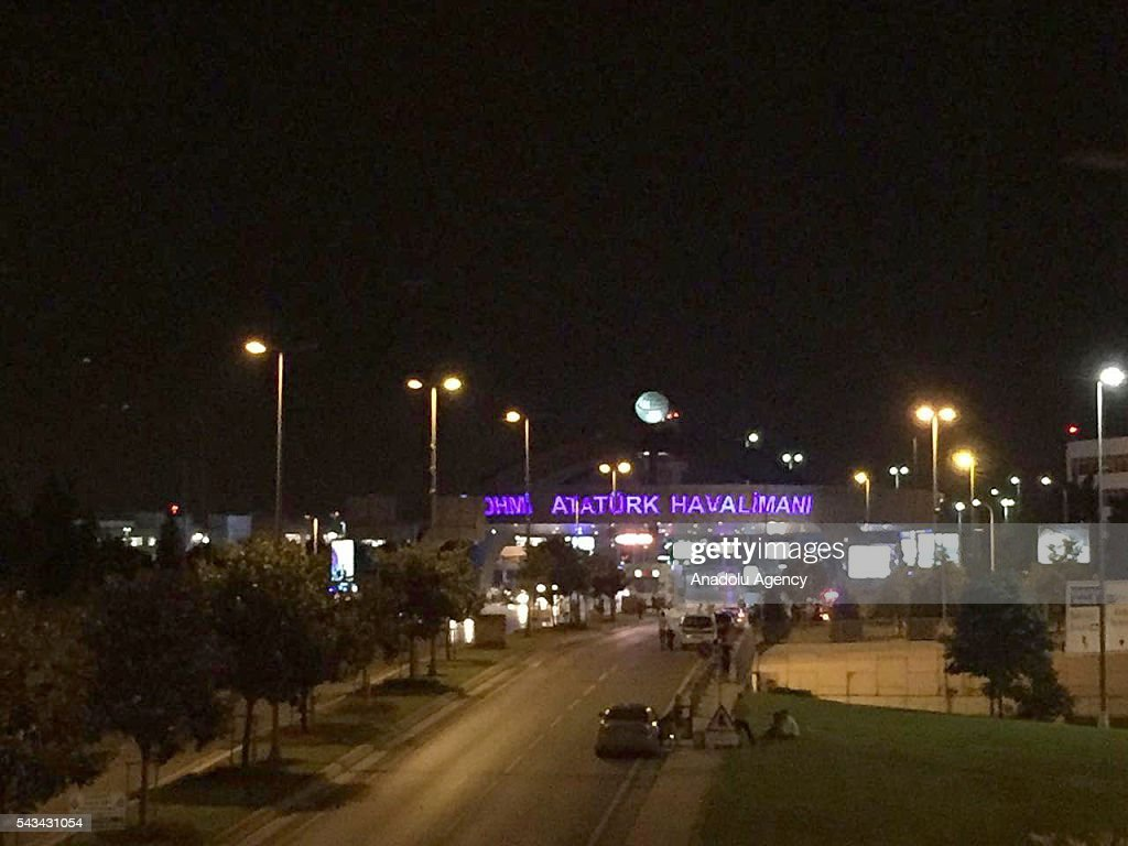 Entrance of the Ataturk International Airport after an explosion, in Istanbul, Turkey on June 28, 2016. Unspecified number of injured in explosion at Istanbul's Ataturk International Airport.
