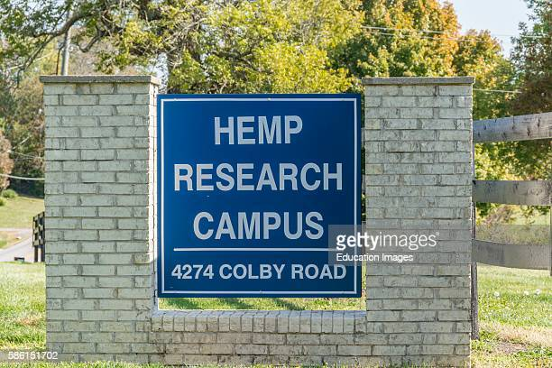 Entrance sign to a Hemp research facility in Kentucky