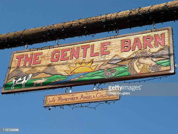 Entrance sign to The Gentle Barn Santa Clarita CA