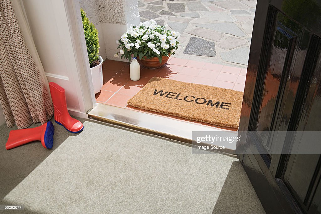 Entrance to a house : Stock Photo