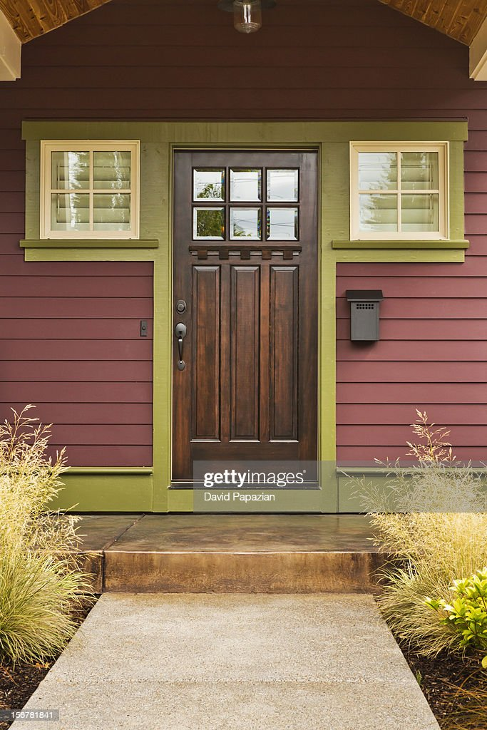 Entrance to a quality built American home exterior