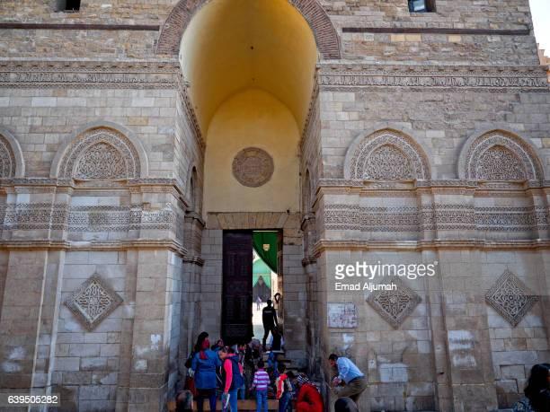 Entrance to Al-Hakim Mosque (Anwar Mosque), Cairo, Egypt - December 9, 2016