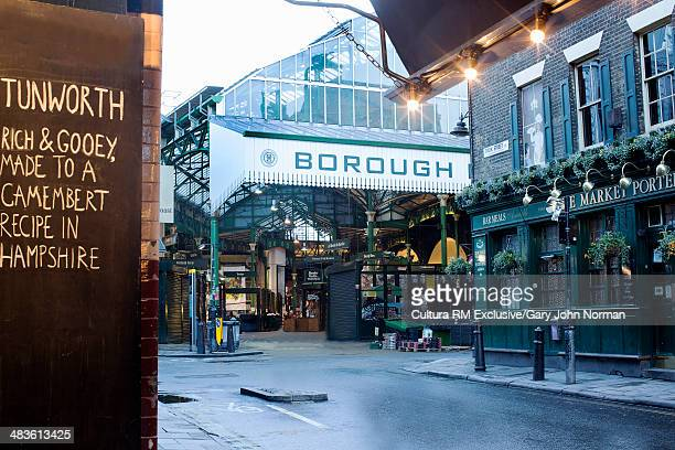 Entrance to Borough market, London, England