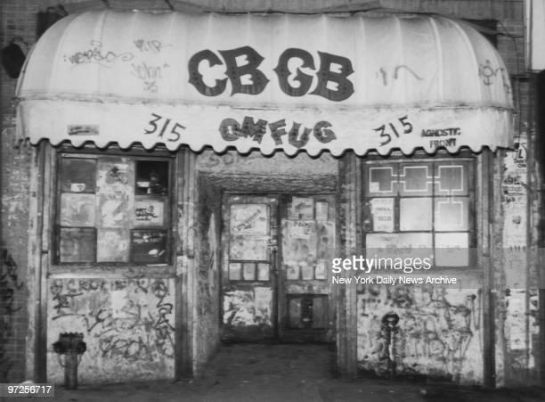 Entrance to CBGB