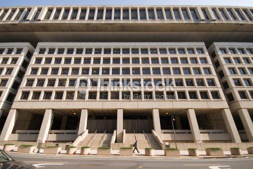 Entrance to federal bureau of investigation fbi building washington