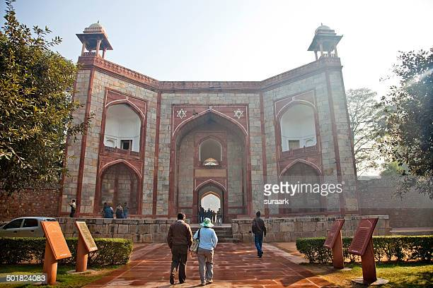 Entrance to Humayun's Tomb, Delhi, India.