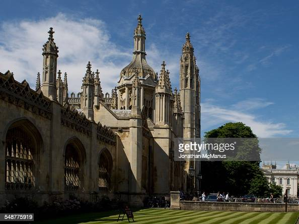Entrance to Kings College Cambridge viewed from Kings Parade Taken on 4 July 2014