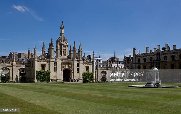 Entrance to Kings College Cambridge viewed from the Chapel Taken on 4 July 2014