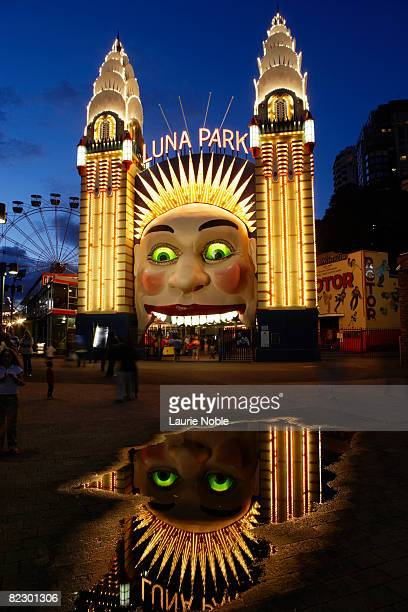 Entrance to Luna Park theme park Sydney, Australia