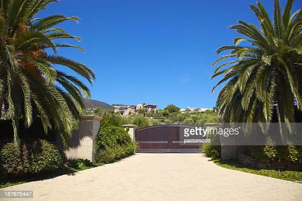 Entrance to Malibu Home
