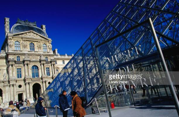 Entrance to Musee du Louvre.