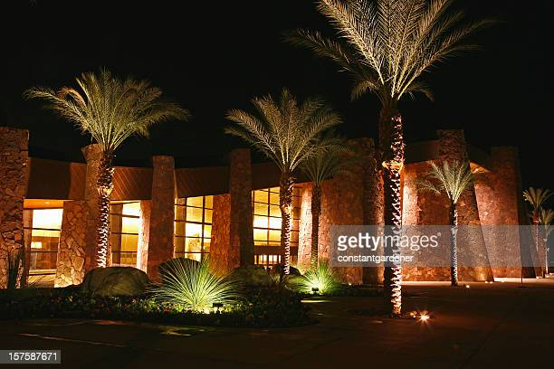 Entrance To Palm Springs Convention Center At Night
