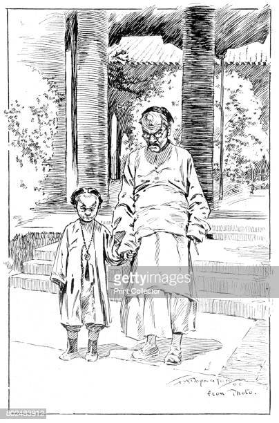 Entrance to the British Legation Pekin The oldest servant and his son' 1900 From Black White Budget Vol III [The Black and White Publishing Company J...