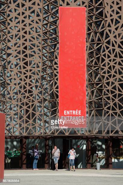 Entrance to the Great Hall Exhibition Space on the a Former Industrial Site Arles France