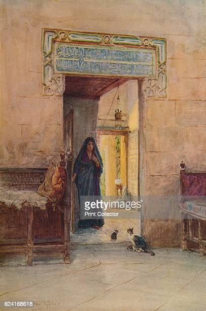 Entrance to the Hareem' c1905 From An Artist in Egypt by Walter Tyndale RI [Hodder Stoughton London New York Toronto 1912] Artist Walter Frederick...